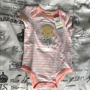 BNWT 0-3 Months girls onesie